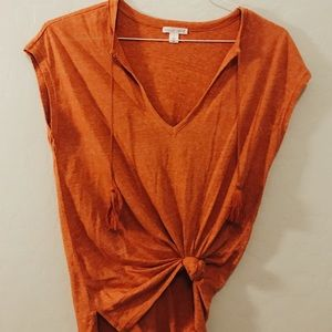 Nordstrom orange top